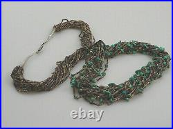 20-strand, Very Fine Turquoise Nugget & Pen Shell Heishi Necklace Kewa Pueblo