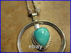 27 Vintage NAVAJO Sterling Silver PREMIUM Turquoise Heishi Bead Necklace