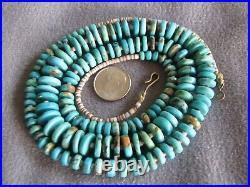 29 Vintage Natural South West Turquoise and Heishi Bead Necklace