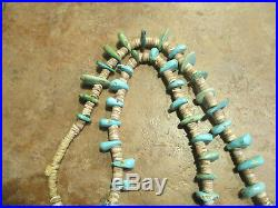 30 Extra Fine OLD PAWN Navajo Turquoise Nugget & Heishi Bead Necklace