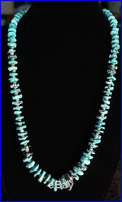 Chunky Turquoise And Heishi Necklace