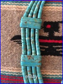 HUGE Old 1970 Museum Quality Santo Domingo Turquoise Heishi Necklace. Gorgeous