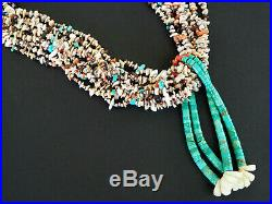 Heavenly Heishi! Big Gemstone And Shell Necklace With Turquoise Jacklas
