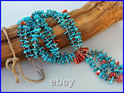 Honey Of A Necklace! Big, Beautiful Turquoise, Spiny And Pen Shell Heishi Kewa