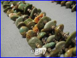 Important Navajo Roe Yazzie Royston Turquoise Sterling Silver Heishi Necklace