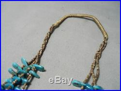 Marvelous Vintage Navajo Turquoise Heishi Necklace Native American