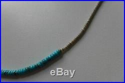 Mikia Japan Shell x Heishi Beads Necklace in Turquoise Brand new