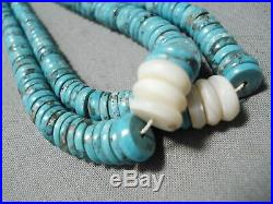 Museum Vintage Navajo Coral Turquoise Heishi Native American Necklace Old
