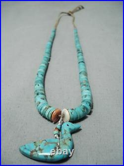 Museum Vintage Santo Domingo #8 Turquoise Coral Heishi Necklace Old