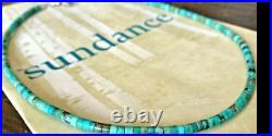 NEW $188 Sundance 18 Turquoise Heishi Disk Sterling Silver Beaded Necklace NWT