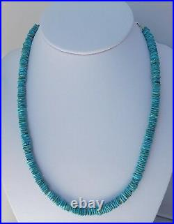 Native American Navajo Turquoise Heishi Necklace