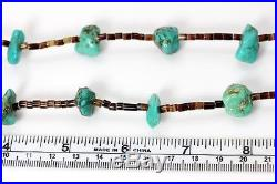Native American Navajo Turquoise Nugget Heishi Necklace 32 956