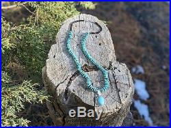 Native American Turquoise Necklace Heishi Beads Navajo Hand Made Jewelry