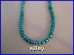 Natural Turquoise Native American Navajo Necklace Genuine Kingman Turquoise