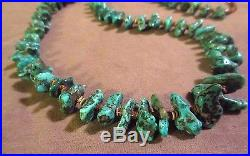 Navajo Stunning Blue turquoise & hand cut heishi Necklace by Elouise Chee JN0112