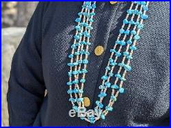 Navajo Turquoise Necklace Heishi Beads Authentic Jewelry Native American Made
