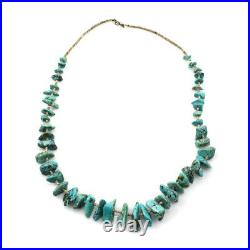 Navajo Turquoise and Heishi Necklace, c. 1970s, 30 Long