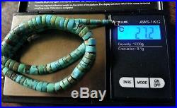 Necklace 70's Hand Made Kewa Heishi Turquoise Santo Domingo Pawn Rolled Native