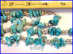 Old Pawn Lot Sterling Native American Turquoise Heishi Necklace Ring Copper Brac