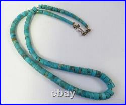 Old Pawn Turquoise Heishi Necklace 15 Inch