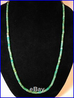 Old Pawn Turquoise Heishi Necklace Bought in Gallup 1972