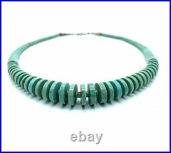 Old Pawn Vintage Navajo Turquoise Disc & Heishi Bead Necklace