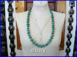 Old Santo Domingo Pueblo 100% Hand Rolled Turquoise Heishi & Nugget Necklace