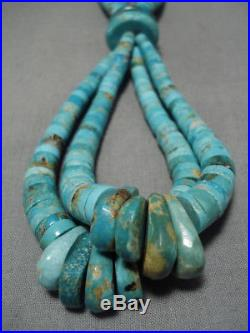 One Best Vintage Navajo #8 Turquoise Heishi Necklace