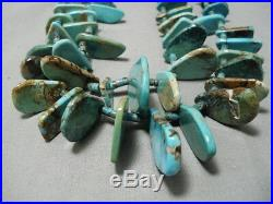 One Of Best Vintage Navajo Nugget Turquoise Heishi Necklace Old
