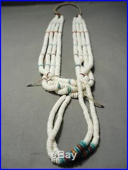 One Of The Best Vintage Navajo Santo Domingo Navajo Turquoise Heishi Necklace