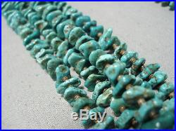 One Of The Best Vintage Navajo Turquoise Heishi Squawtie Necklace Old