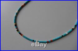 Peyote Bird Turquoise'Long Heishi Necklace' by Pilar Lovato BNWT, RRP £450