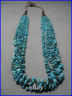 Rare Easter Blue Turquoise! Vintage Navajo Heishi Necklace Old
