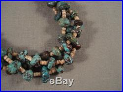 Rare Spider Turquoise Nugget Yazzie Heishi Necklace