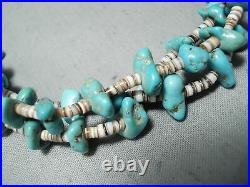 Remarkable Vintage Navajo Native American Turquoise Heishi Necklace