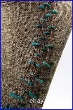 Santo Domingo Dead Pawn 4 Strand Turquoise Nugget Heishi Necklace