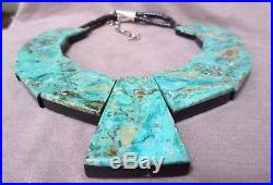 Santo Domingo Large Heishi & Turquoise Inlay Necklace by Torevia Crespin JN0316