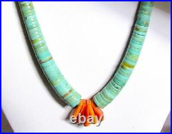 Santo Domingo Lupe Lovato Heishi Necklace Royston Green Turquoise Spiny Oyster