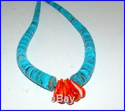Santo Domingo Lupe Lovato Turquoise Spiny Oyster Heishi Jacla Necklace