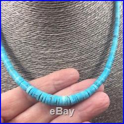 Santo Domingo Native American Turquoise Heishi Bead Necklace
