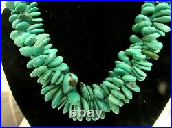 Santo Domingo Natural Royston Turquoise Cluster Tears of Joy Heishi Necklace