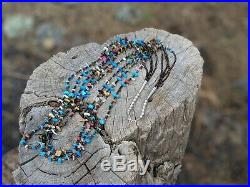 Santo Domingo Pueblo Necklace Turquoise Coral Natural Heishi Beads Native Amer