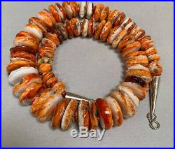 Santo Domingo Spiny Oyster Shell Heishi Disk Bead Necklace
