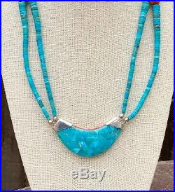Santo Domingo Sterling Turquoise Heishi Spiny Oyster Reversible Beaded Necklace