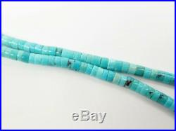 Southwest Turquoise Open Wing Blue Jay Five Fetish Heishi Necklace Matt Mitchell