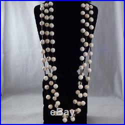 Three Strand White Buffalo Turquoise and Dark Pen Shell Heishi Necklace