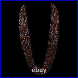 Traditional Handmade Navajo Old Pawn Thirty Strand Multi-colored Bead Necklace