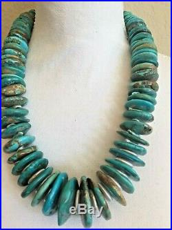 Turquoise Heishi Pearl Necklace Statement Piece Discs Paige Wallace Designer