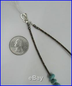 VINTAGE N. A. SOUTHWEST TURQUOISE NUGGET With HEISHI NECKLACE 23 1/2 LONG