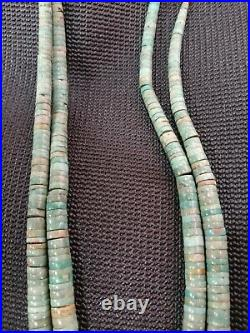 Very Old VTG 2 STRANDS Green Turqouise Santo Domingo Necklace